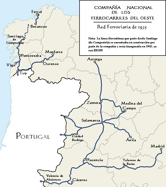 Compañía Nacional de los Ferrocarriles del Oeste