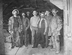 Comstock miners, 1880s. Caption on original: &...