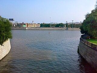 La Setun se jettant dans la Moskova