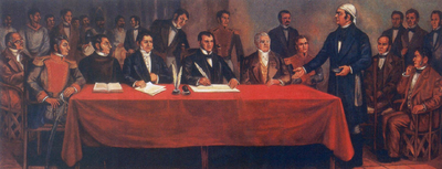 Congress of Anahuac the day of the writing of Solemn Act of the Declaration of Independence of Northern America Congreso de Chilpancingo.png