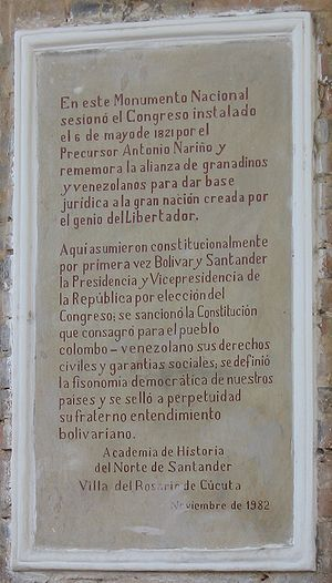 Colombian Constitution of 1821 - Commemoration of the Constitution of Cúcuta