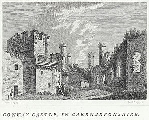 Conway Castle, In Caernarvonshire. Plate II