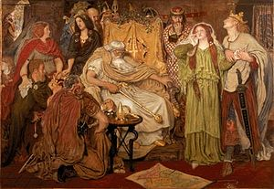 Cordelia (King Lear) - Ford Madox Brown, Cordelia's Portion