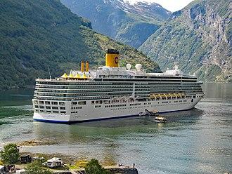 Costa Deliziosa - Costa Deliziosa in Geirangerfjord, Norway, 2011.