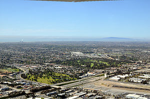 Costa Mesa, California - An aerial view of Costa Mesa in March 2011.