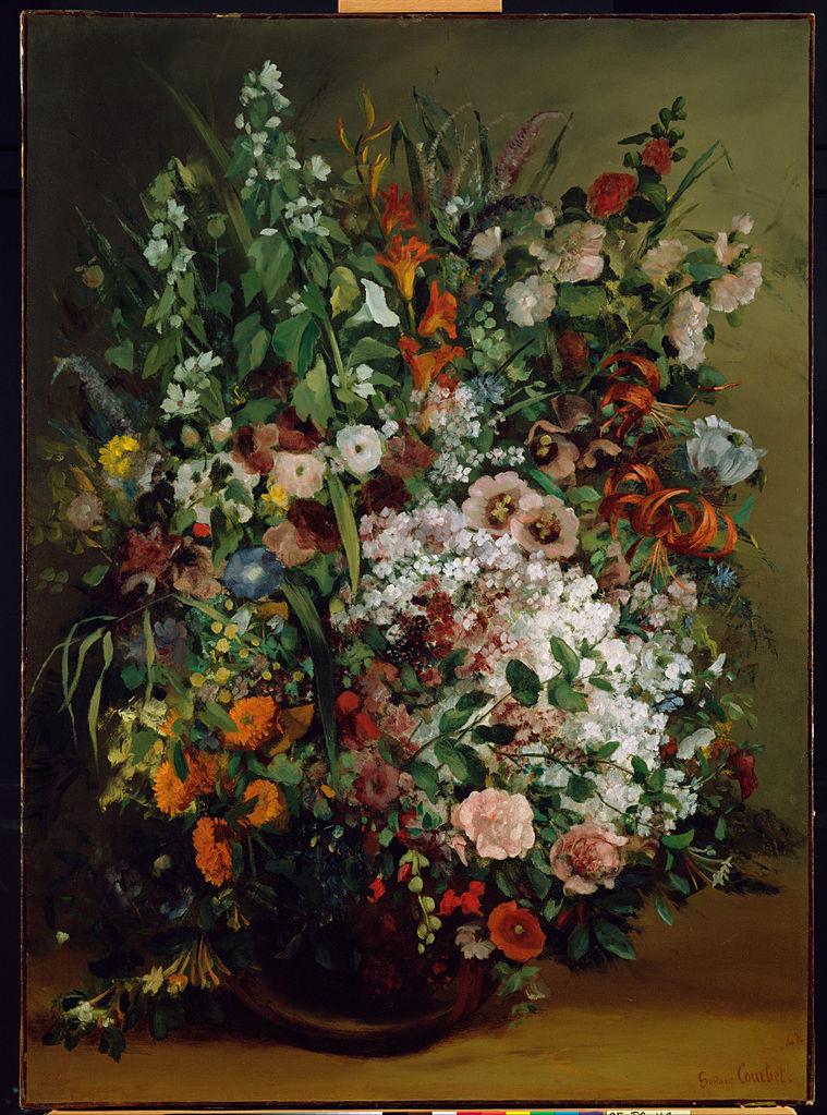 File courbet gustave bouquet of flowers in a vase for Bouquet de fleurs wiki