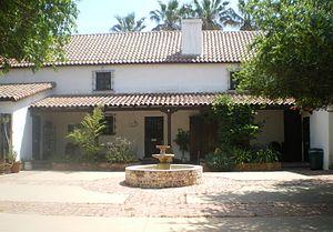 Rómulo Pico Adobe - The Pico Adobe's courtyard