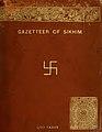 Cover, The Gazetteer of Sikhim (IA gazetteerofsikhi00beng) (page 1 crop).jpg