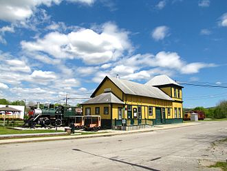 National Register of Historic Places listings in Franklin County, Tennessee - Image: Cowan depot tn 1