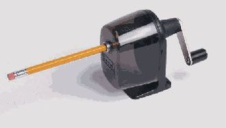 Crank (mechanism) - Hand crank on a pencil sharpener