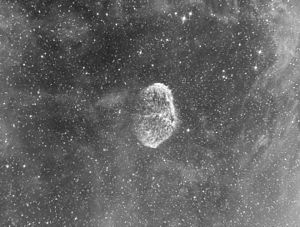 Crescent Nebula - Image of NGC 6888 using H-alpha filter.