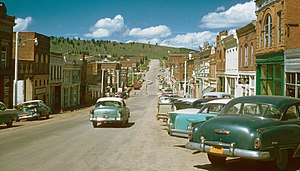 National Register of Historic Places listings in Teller County, Colorado - Image: Cripple Creek, Colorado, 1957, Kodachrome by Chalmers Butterfield