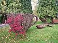 Cup and Spoon Sculpture, The Secret Garden, Eden Villa Park, Bachelors Walk, Portadown - geograph.org.uk - 587968.jpg