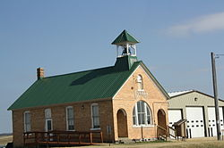 Town hall on Wisconsin Highway 95