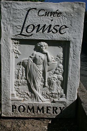 Pommery - Cuvée Louise, top brand of house Pommery