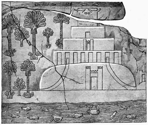 D503- la tour de babel d'après un bas-relief assyrien. -L2-Ch 3