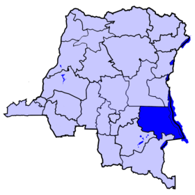 Localisation du district du Tanganyika