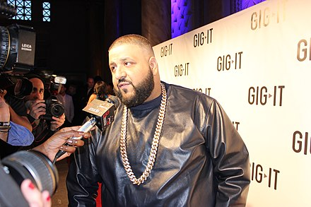 American radio personality and record producer DJ Khaled, of Palestinian descent DJ Khaled 2012.jpg