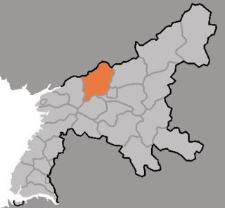 Kaechon Municipal City in South Pyŏngan, North Korea