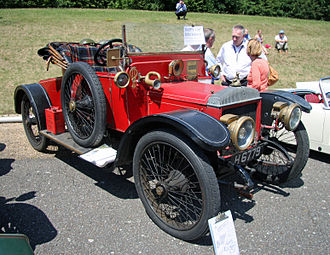 Knight engine - Daimler 22 hp open 2-seater (1909 example) the mascot on its radiator cap is (C. Y.'s) Knight