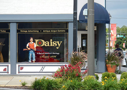 Daisy Airgun Museum in downtown Rogers Daisy Airgun Museum in Rogers, AR.jpg
