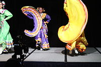 Dancing at the Wikimania 2015 Opening Ceremony IMG 7602.JPG