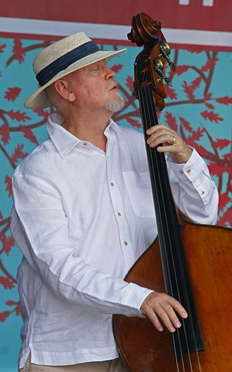 Danny Thompson - Thompson backing Martin Simpson in 2008 Folk by the Oak Festival  Photo: David Laws