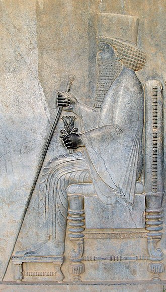 King of Kings - The title King of Kings was prominently used by Achaemenid Persian kings such as Darius the Great (pictured). The full titulature of Darius was Great King, King of Kings, King in Fārs, King of the Countries, Hystaspes' son, Arsames' grandson, an Achaemenid.