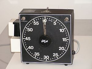 Enlarger - Electric timer: photographers choose exposure time.