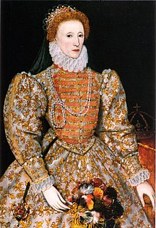 Elizabeth I of England Queen regnant of England and Ireland from 17 November 1558 until 24 March 1603