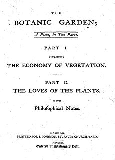 <i>The Botanic Garden</i> book by Erasmus Darwin