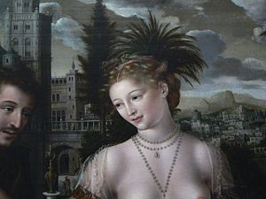 David and Bathsheba by Jan Matsys, 1562, Louvre