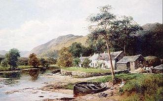 David Bates (English artist) - At the head of Derwent Water (1898)