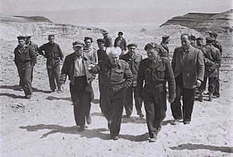 Moshe Tzadok - David Ben-Gurion and Moshe Tzadok during a Dead Sea tour on March 22, 1952.