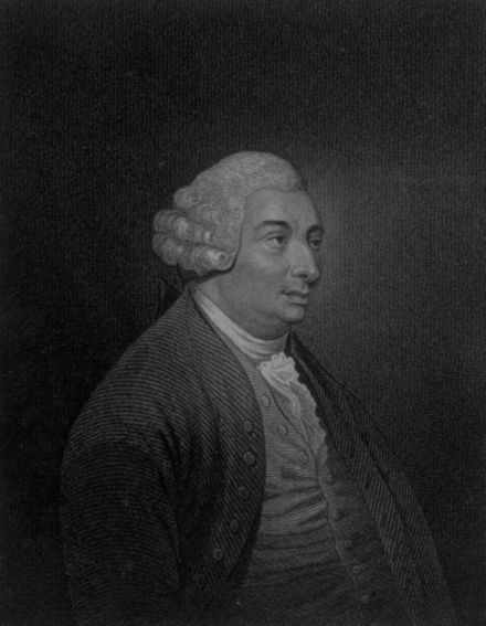 An engraving of Hume from the first volume of his The History of England, 1754 David Hume 1754.jpeg