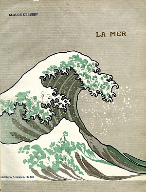 La mer (Debussy) - Cover of the 1905 edition, based on Hokusai's Wave