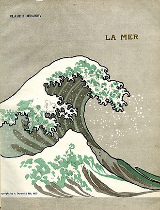 La mer (Debussy) - Cover of 1905 edition of score, based on Hokusai's Wave