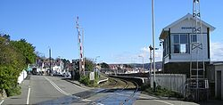 Deganwy railway station from level crossing.jpg
