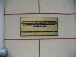 Rehuel Lobatto - Plaque in Delft