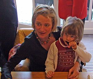 Delphine Boël - Boël and her daughter at a book signing in 2008