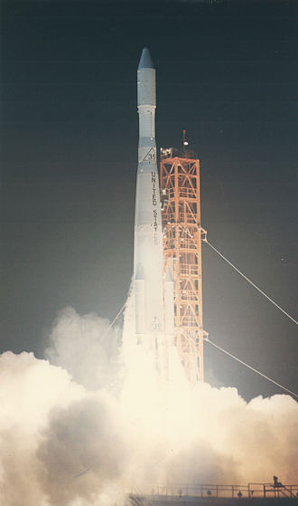 Pioneer 6, 7, 8, and 9 - Launch of Pioneer 6 on a Delta-E rocket