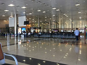 Pune Airport - Image: Departure Lounge Pune Airport India