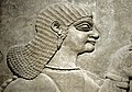 Detail. One of Ashurnasirpal II's royal attendants (a eunuch). Alabaster bas-relief from the North-West Palace of Ashurnasirpal II at Nimrud, Iraq. 9th century BCE. National Museum of Scotland. Donated by Sir Dr. James Young.jpg