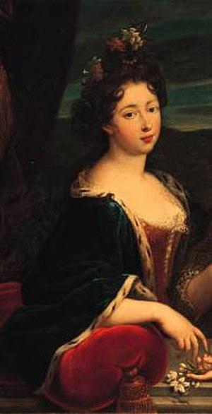 Marie of Lorraine - Image: Detail of portrait by Nicolas Fouché of Marie de Lorraine (1674 1724)
