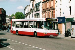 Diamond Bus - Plaxton Pointer bodied Dennis Dart in Walsall in June 2007