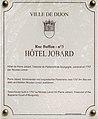 Dijon Hotel Jobard plaque information.jpg