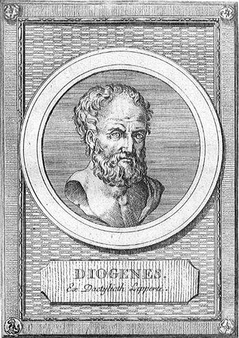English: Portrait of Hellenic philosopher Diog...