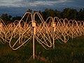 Dipoles of GURT radio telescope antenna array.jpg