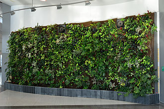 Enercare Centre - Living wall installed for 2010 G-20 Toronto summit.