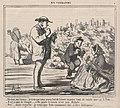 Dis-donc, ma femme.... je crois que nous avons tort de laisser manger tant de raisin que ça à Toto ....., from En Vendanges, published in Le Charivari, September 21, 1859 MET DP876776.jpg
